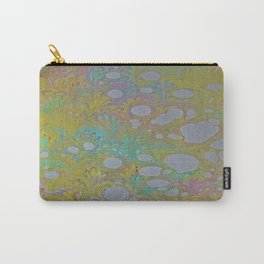 Easter Peacock Water Marbling Carry-All Pouch