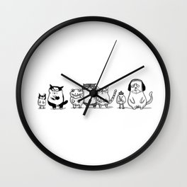 3 CRAZYSSS AND FRIENDS Wall Clock
