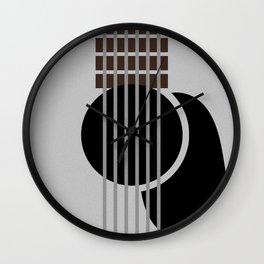 Minimalist Guitar Wall Clock