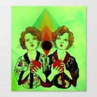 gemini Canvas Prints featuring Gemini by Meagan Alwood Karcic