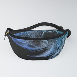 Cuttlefish in Black and Blue Fanny Pack