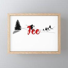Ski at Fee Framed Mini Art Print