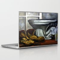 toilet Laptop & iPad Skins featuring Boots and toilet by spiderdave7