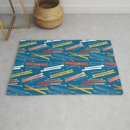 Colorful Ski Pattern Rug