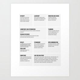 Team Work Characters, Office Decor Ideas, Wall Art Art Print