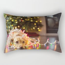 Christmas Dog Sadness! Rectangular Pillow