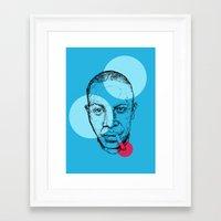allyson johnson Framed Art Prints featuring Robert Johnson by mr.defeo