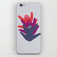 sloths iPhone & iPod Skins featuring Color sloths by Darish