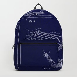 Guitar Patent - midnight blue Backpack