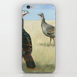 wild turkeys iPhone Skin