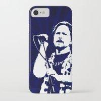 eddie vedder iPhone & iPod Cases featuring eddie vedder by yahtz designs