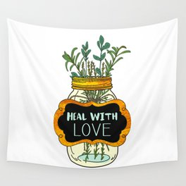 Heal With Love Wall Tapestry