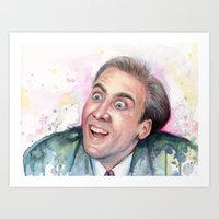 nicolas cage Art Prints featuring Nicolas Cage You Don't Say by Olechka
