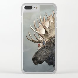 Eerik the Sami Shaman and Hirvi the Moose Clear iPhone Case