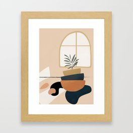 Plant in a Pot Framed Art Print