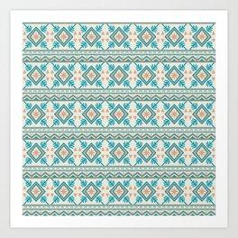 Aztec Pattern II Art Print