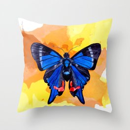 Blue Phoenix Throw Pillow