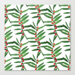 Christmas Botanical Canvas Print