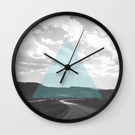 Geo Trip Cyan Wall Clock