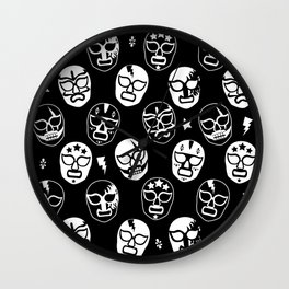 Máscaras (Black & White) Wall Clock