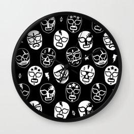Máscaras (Black & White) Wall Clock