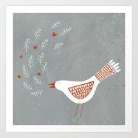 la Art Prints featuring La la la by Nic Squirrell