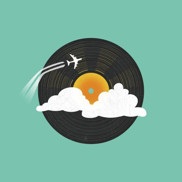 Sunburst Records Duvet Cover