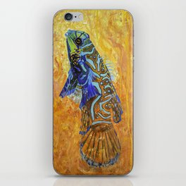 mandarin dragonet original Oil Painting iPhone Skin