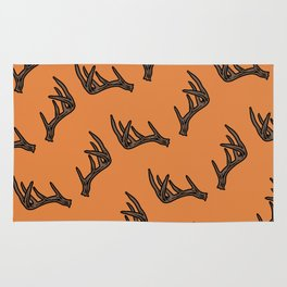 Orange Antler Pattern Rug