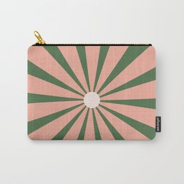Big Daisy Retro Minimalism in Blush and Green Carry-All Pouch