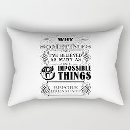 Alice in Wonderland Six Impossible Things Rectangular Pillow