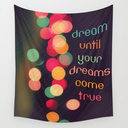 Vintage Colorful Christmas Bokeh Wall Tapestry