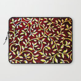 Golden Leaves Against The Maroon Sky Laptop Sleeve