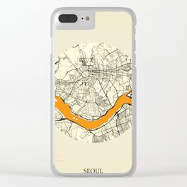 Seoul Map Moon Clear iPhone Case