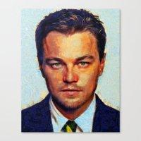 leonardo dicaprio Canvas Prints featuring Leonardo DiCaprio II by Nick Arte