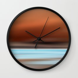 Drinking Wine on the Beach at Sunset Wall Clock