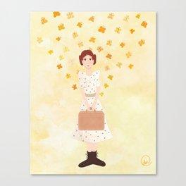 goodbye, butterfly Canvas Print
