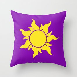 Rapunzel's Golden Sun Throw Pillow