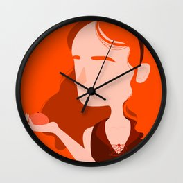 "Color Girl Series: ""Clementine"" Wall Clock"
