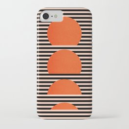 Abstraction_SUNSET_LINE_ART_Minimalism_001 iPhone Case