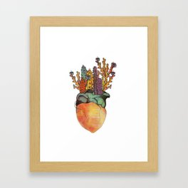 I Heart Cactus Framed Art Print