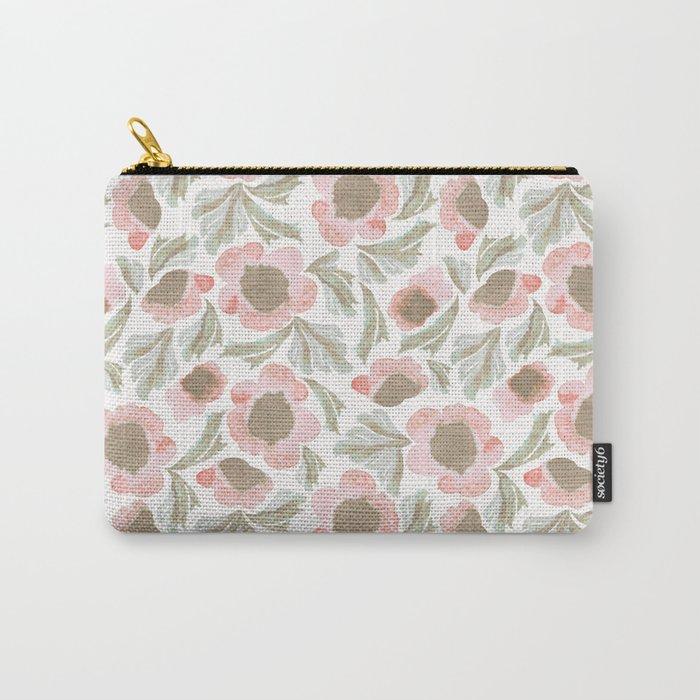 Bohemian Farmhouse Florals Carry-All Pouch