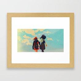 momo & jirou Framed Art Print