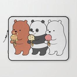 Baby Bears Eating Some Ice Cream Laptop Sleeve