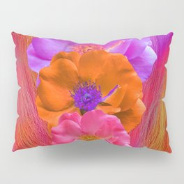 Faux Fur and Flowers Pillow Sham