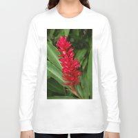 hawaiian Long Sleeve T-shirts featuring Hawaiian flower by lennyfdzz