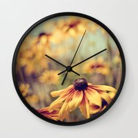 sunshine Wall Clocks featuring sunshine by shannonblue