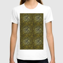 Gold pattern shading atmosphere T-shirt