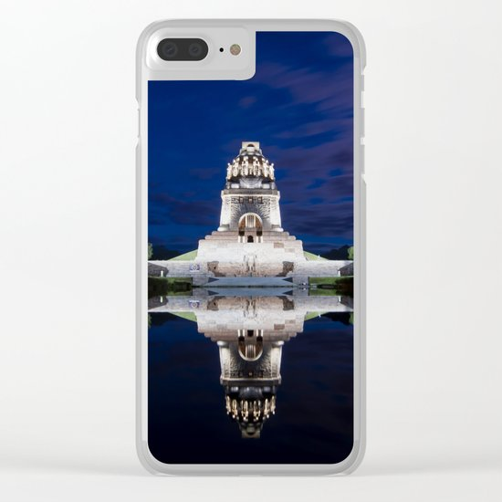 Monument of Battles of Nations- Germany - blue hour Clear iPhone Case