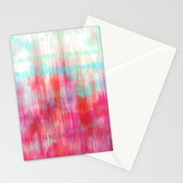 Color Song - abstract in pink, coral, mint, aqua Stationery Cards